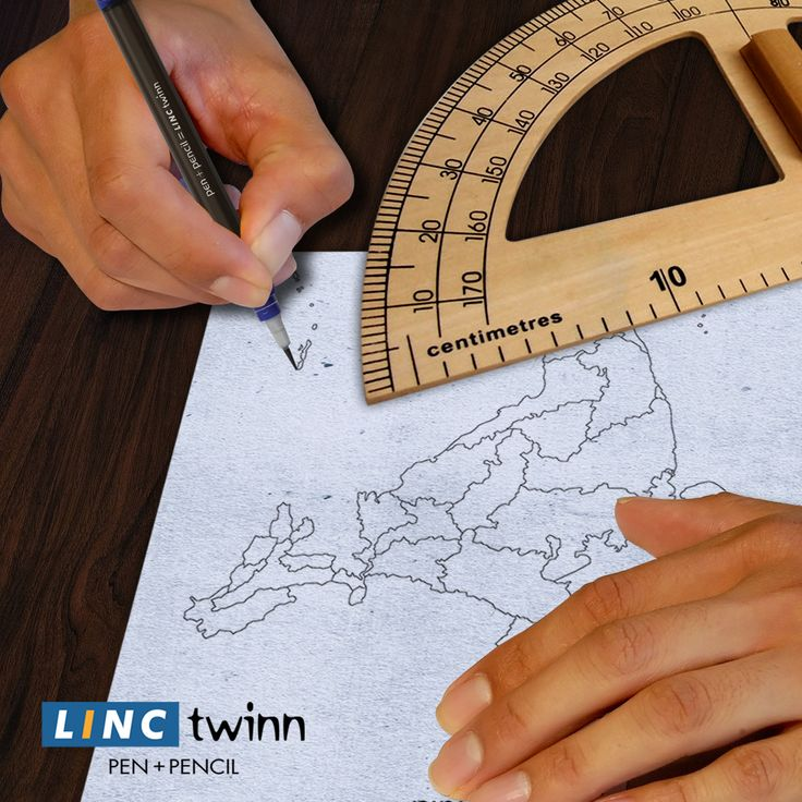 What works best for finding those little islands on the map? A pencil, a pen or Linc Twinn. #LincPens #Pens #LincTwinn
