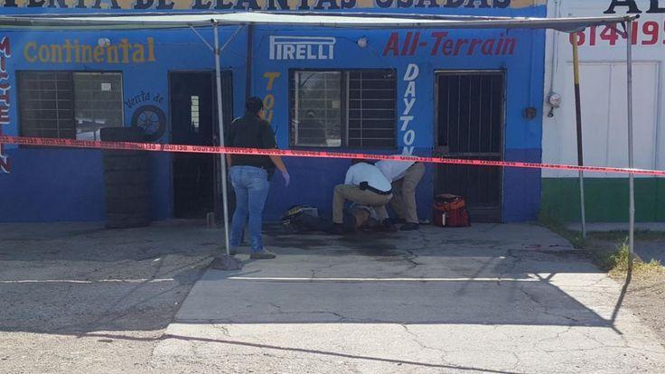 <p>Chihuahua, Chih.- Un hombre fue ejecutado en un local de desponchado y venta de llantas usadas en la avenida Heroico Colegio Militar y 19 de Junio de la