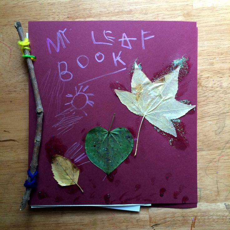 Nature and art collide when making a homemade leaf book. Leaf rubbings, leaf prints, pressed leaves... So many ways to preserve  leaves through artistic expression.