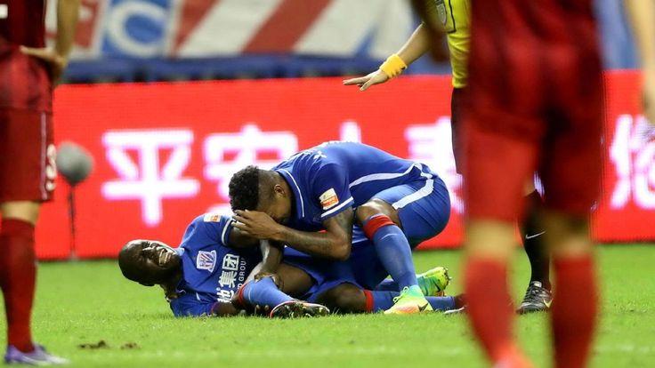 Shanghai Shenhua coach fears end of Demba Ba's career following leg break