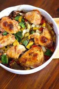 Tabuleiro de Frango no Forno com Batata Doce, Cebola e Tomate Cereja | As minhas Receitas | Bloglovin'