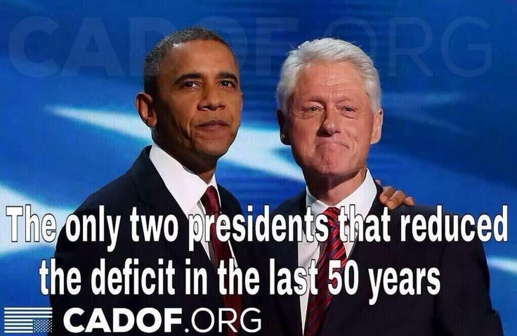 In the last 50 years, only 2 Presidents have reduced the Deficit. Guess which ones? pic.twitter.com/Dp9zwu5IH1
