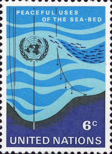 UN stamp, Peaceful Uses of the Sea-Bed