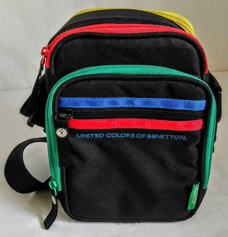 Camera Bag UNITED COLORS OF BENETTON Shoulder Cross Body Bag Video CD Black Case