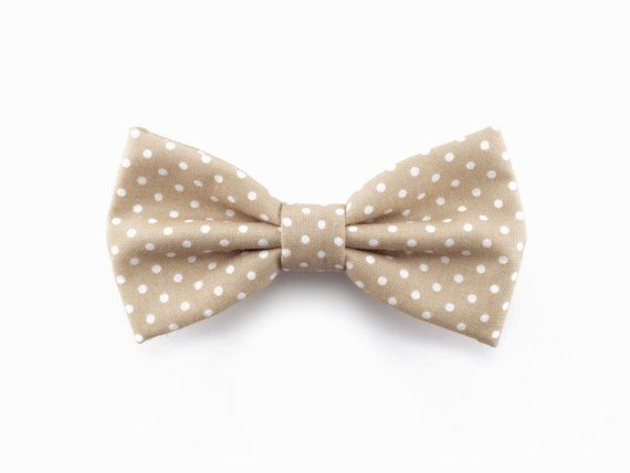 Brown /& White Dots Pre-Tied Cotton Bow Tie On Adjustable Strap Choice of Men/'s or Boys Bow Tie