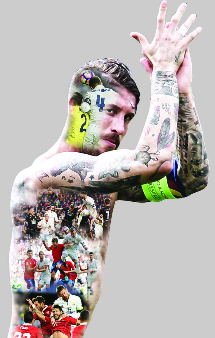 Sergio Ramos's match tattoo