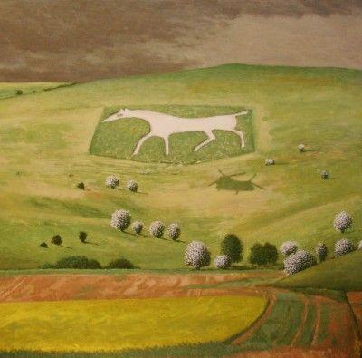 David Inshaw - White Horse Alton Barnes