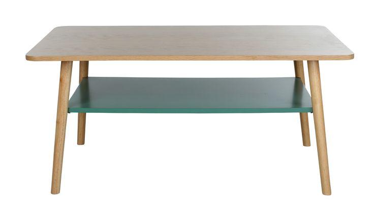 La collection FLODEN vous fera craquer de part ses courbes scandinaves et ses motifs estivaux ! Table basse rectangle FLODEN Chêne/ vert - BUT