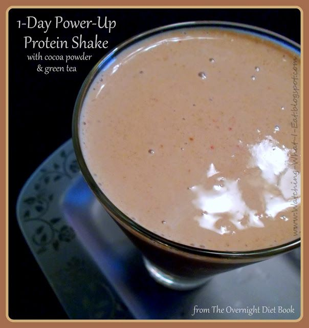 1-Day Power-Up Shake with cocoa & green tea ~ from The Overnight Diet guidelines