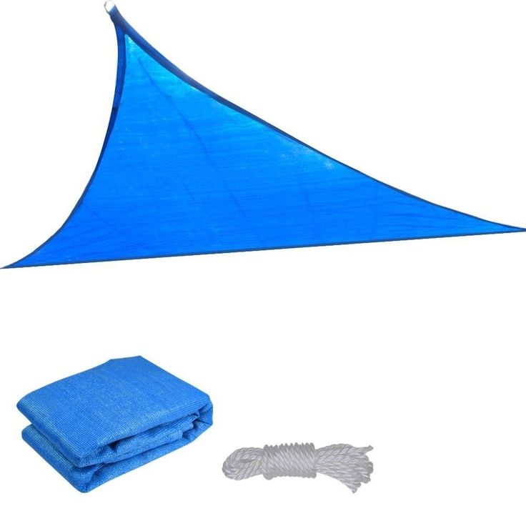 MCombo Sun Shade Sail Outdoor UV Top Cover Patio Lawn Blue Triangular Block Canopy 6055-1616B