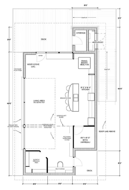 Floor Plan For Tiny House Replace Dressing Area With