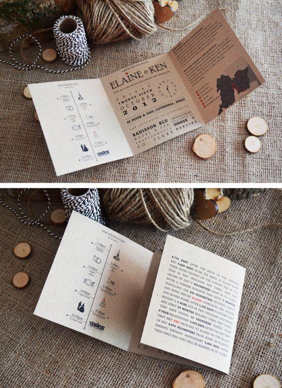 10 x invitación de la boda de Fuschia/bronce / por adrimdesign