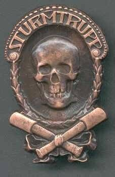 WW11 GERMAN STORMTROOPER BADGE BRONZE M-25A (REPRODUCTION) Bronze. Badge is made of high quality tin alloy and is made as close to original as possible.