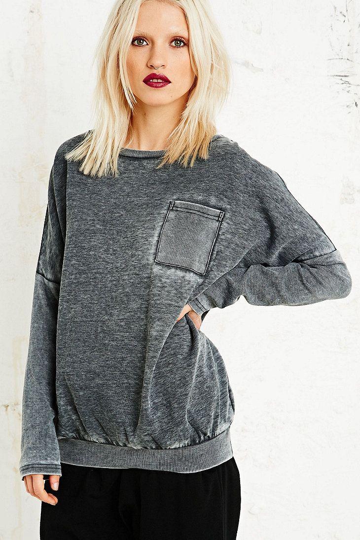 Sparkle & Fade Burnout Baseball Sweatshirt