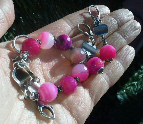 Check out this item in my Etsy shop https://www.etsy.com/listing/150277640/jewelry-set-bracelet-and-earrings
