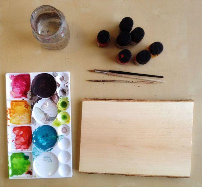 Watercolour on wood tutorial.