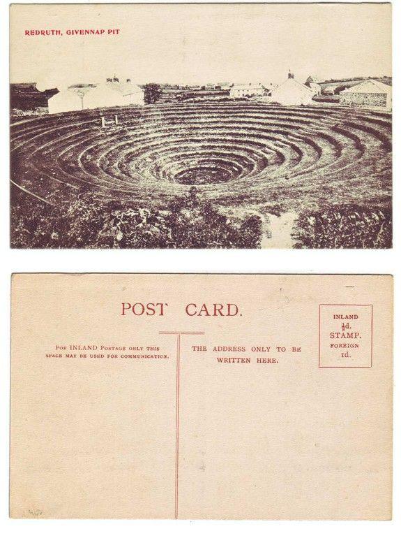 GWENNAP PIT (c.1905-10) | Near Redruth, Cornwall: Postcard     ✫ღ⊰n