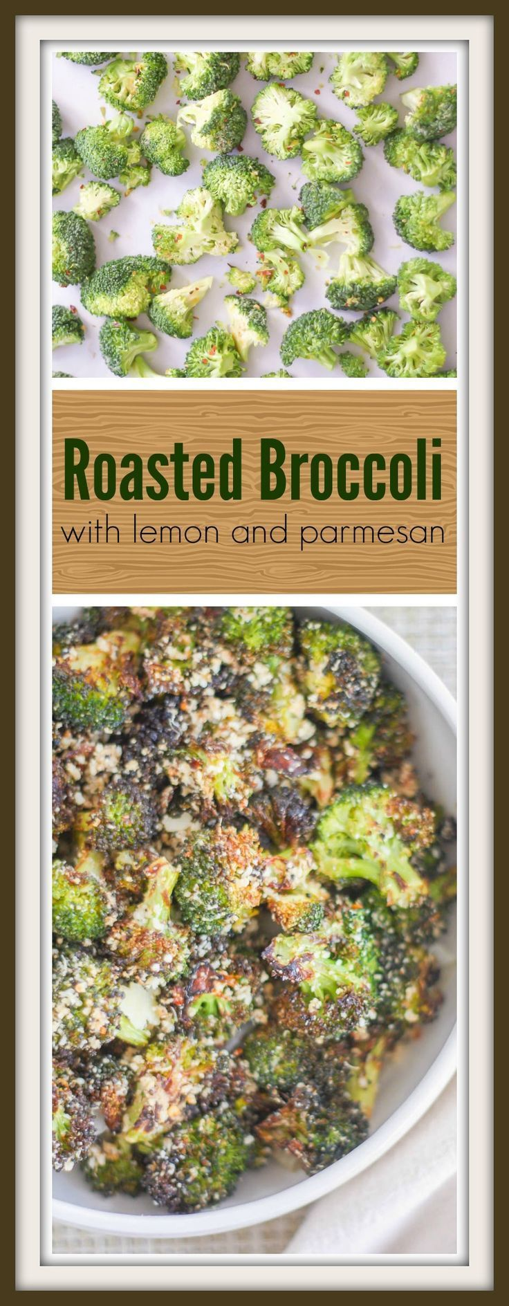 Roasted broccoli tossed with lemon and parmesan. You'll never steam it again!