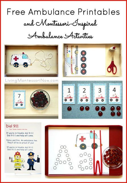 Montessori-Inspired Ambulance Activities Using Free Printables