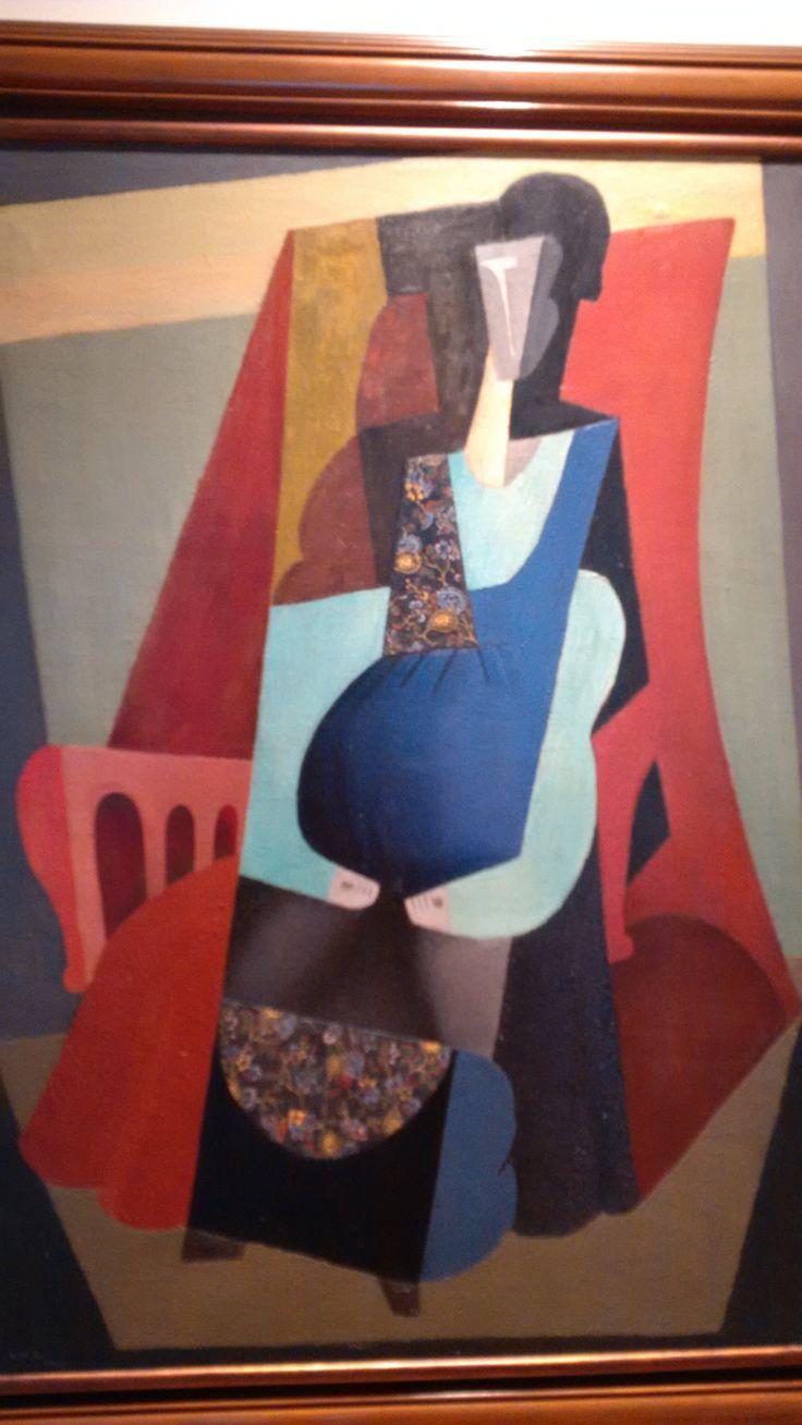 Diego Rivera Mujer en verde, 1916 Óleo sobre tela