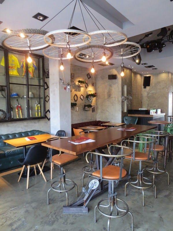 Mexil Design Cafe Bar Flamme Rouge Athens #bar #mexil #cafe #stools