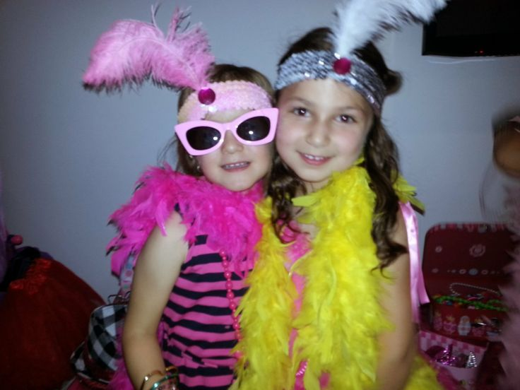 It's A Girl's World Glamour Girl parties - Friends & feathers.... all a girl needs!