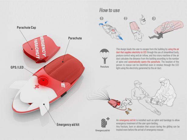auto parachute fire rescue solution
