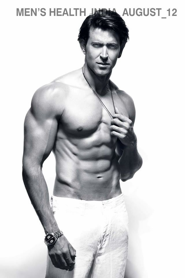 My mouth seriously dropped! <3 Hrithik Roshan Flaunts His Hot Body On Men's Health Cover!