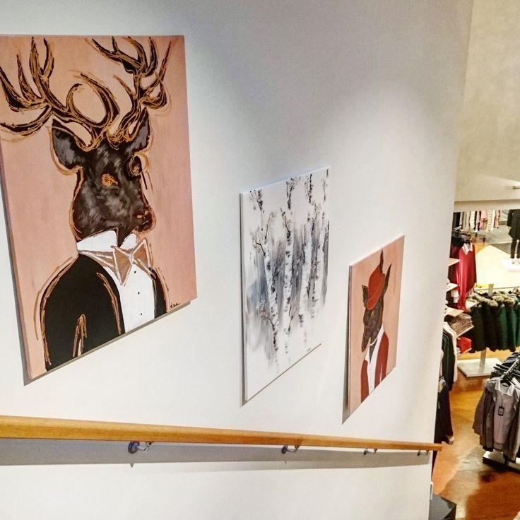Die besten 25+ Hirsch gemälde Ideen auf Pinterest Hirsch - hirschgeweih deko wohnzimmer