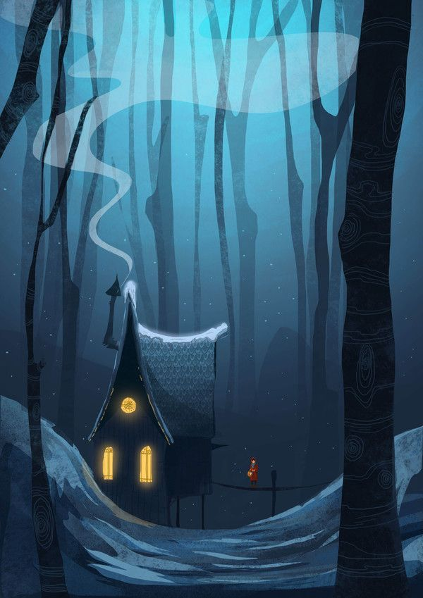 House in the woods, Illustrations by Mustafa Gündem Published by Maan Ali