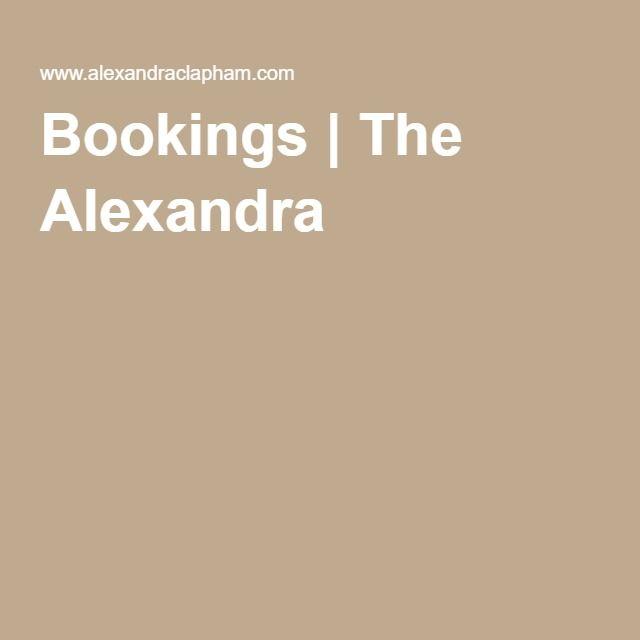 Bookings | The Alexandra