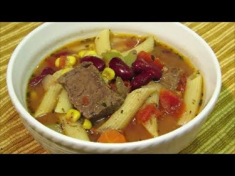 How to make Steak Minestrone Soup - The Best Minestrone Soup Recipe