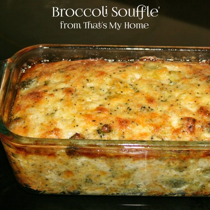 Broccoli Souffle - Broccoli. eggs and cheeses bake up perfectly in this light. delicious soufflé. Recipes. Food and Cooking