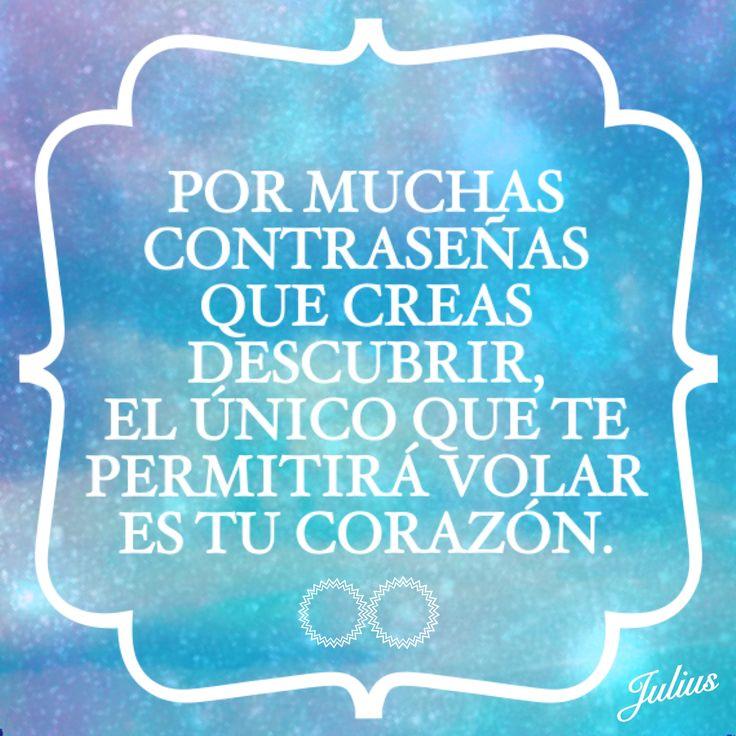 POR MUCHAS CONTRASEÑAS QUE CREAS DESCUBRIR, EL ÚNICO QUE TE PERMITIRÁ VOLAR ES TU CORAZÓN.  #vida #vivelavida #confiaenelcorazon #volar #envivomejor #elsecretoestaenvivir #lahumanidadsepierdeenlared  #serhumanidad #parasalirdedudaspregunta #laspersonasnosomosnegoci #noaltraficodepersonas #porlosderechoshumanos #micontraseñaportupassword #deshumanizacion