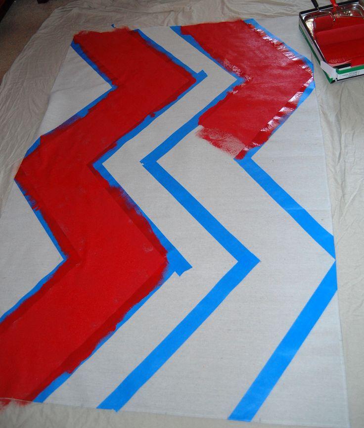 DIY Chevron Curtain Tutorial with Template