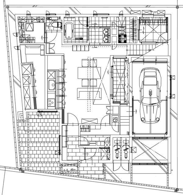 28 best urban zen home images on pinterest floor plans for Casas minimalistas interiores
