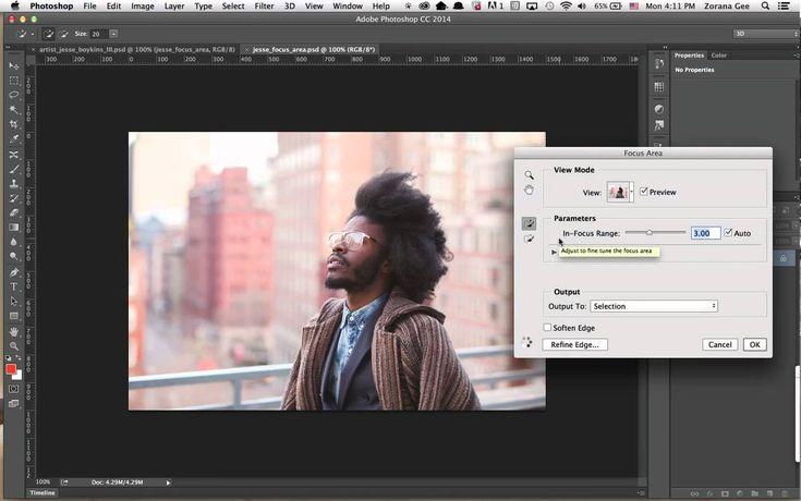 Photoshop CC Sneak Peek:  Выделение объекта в фокусе: Focus Masks