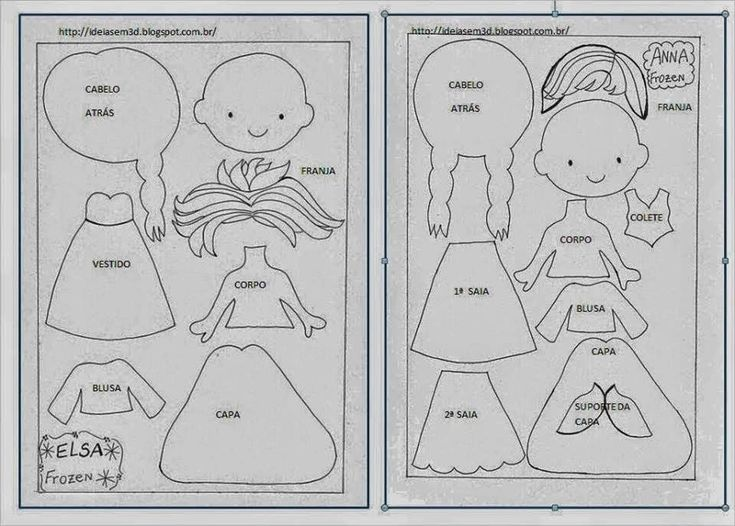 Cartamodelli Anna e Elsa