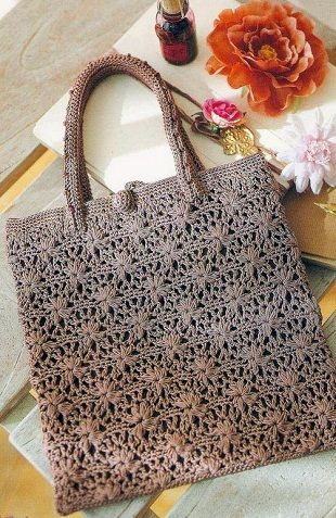 pretty crochet bag. ~  ♡ THIS PATTERN IS WONDERFUL!  DOES ANYONE KNOW THE NAME OF IT?  ♥A
