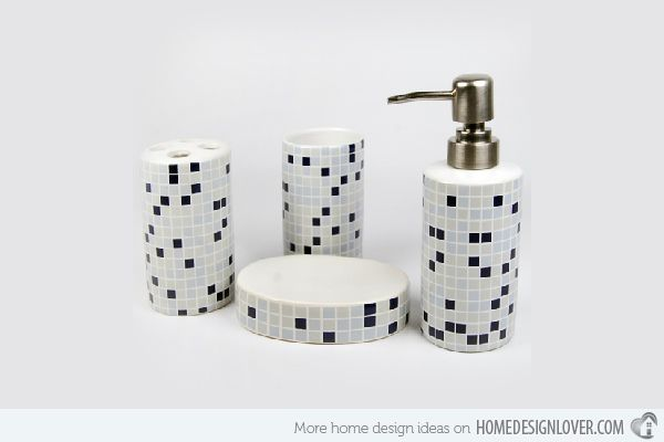 15 Trendy Modern Bathroom Accessories Set | Home Design Lover