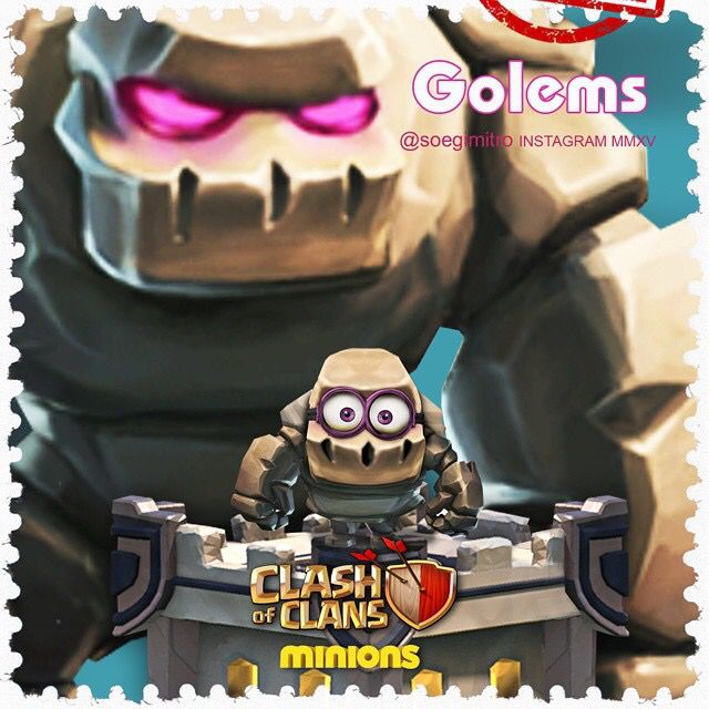 Clash of Clans Minions ~ Golems