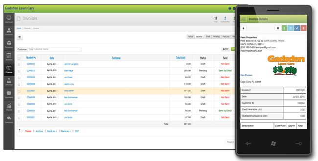 lawn service invoice lawn care software for mac pc ipad iphone and android