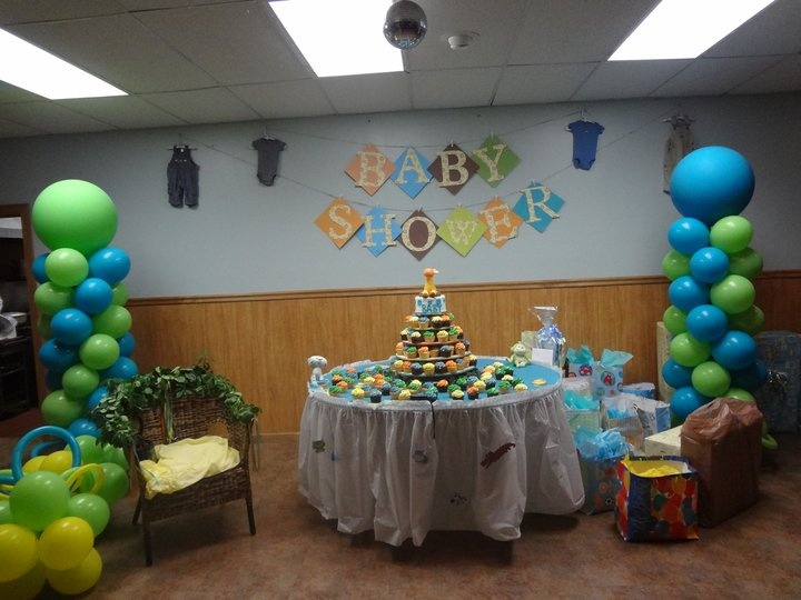 Balloon column for fisher price babyshower theme m y