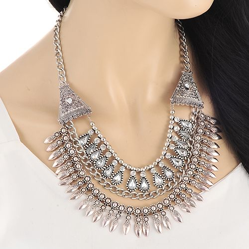 Multilayered Bohemian necklace