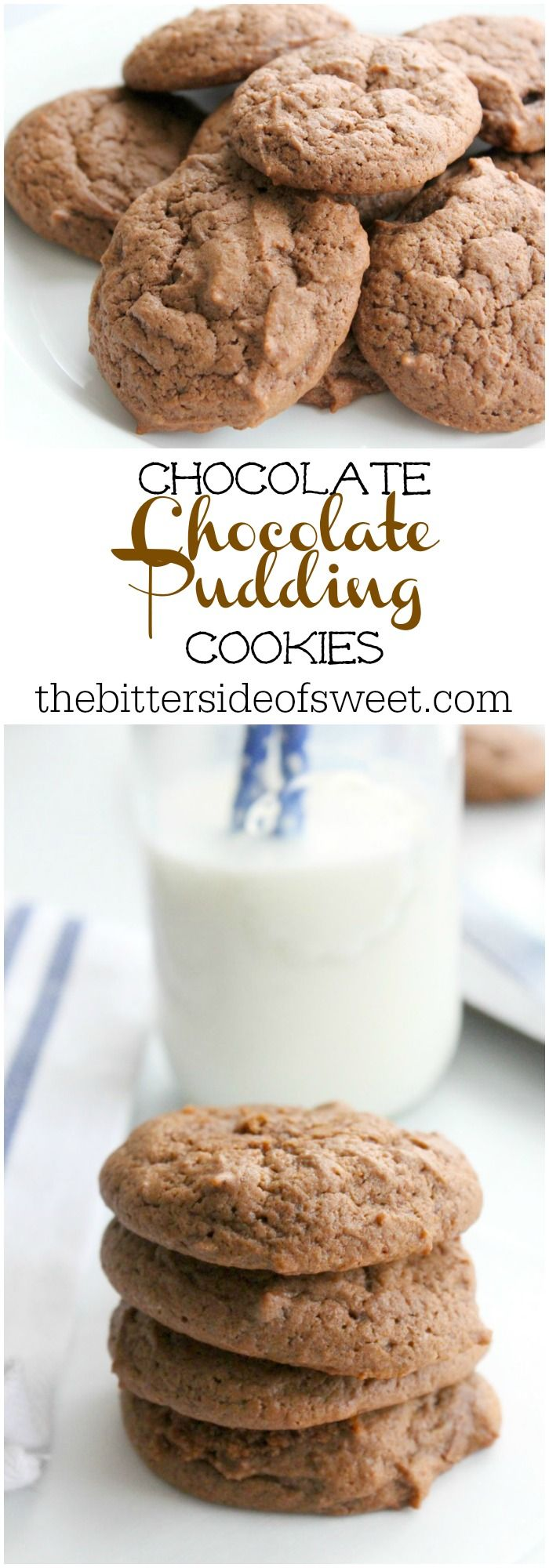 Chocolate Chocolate Pudding Cookies | The Bitter Side of Sweet