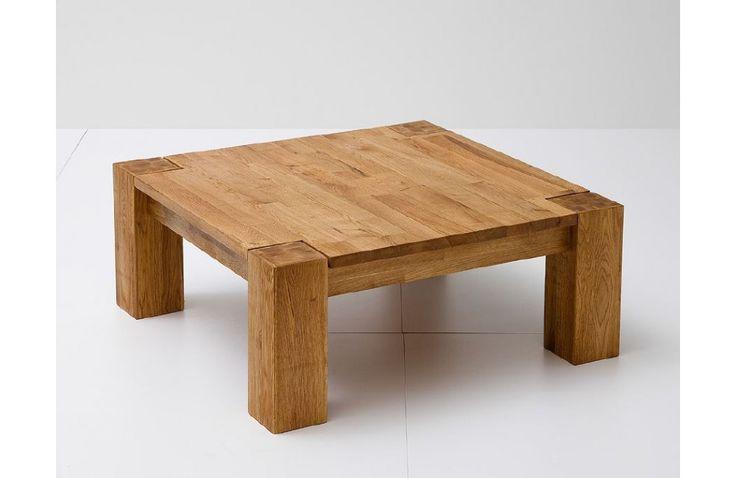 Table basse en chêne massif - Meuble en bois massif - Meuble et Canape.com