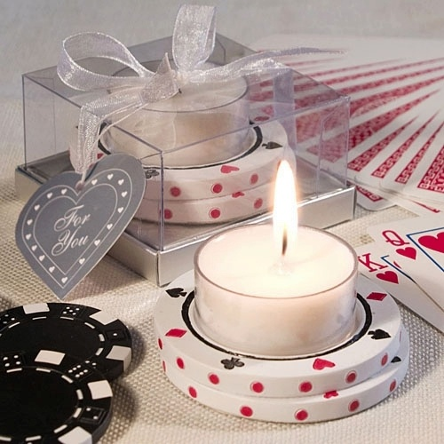 Event Candle Favors Poker Chip Design