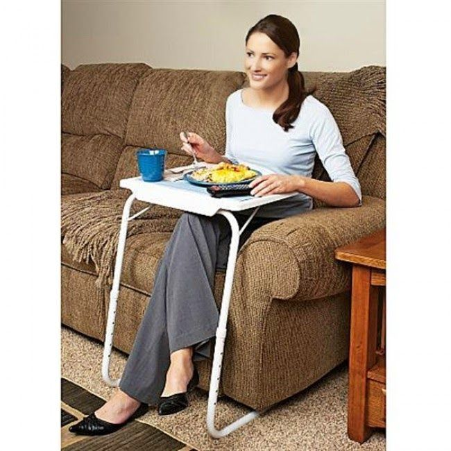 Table Mate Foldable Folding Adjustable Tray To Plastic Desk Eat Seen Tv  Table Mate