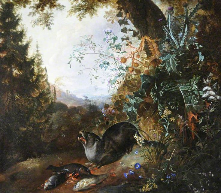 Otter in a Landscape - Matthias Withoos