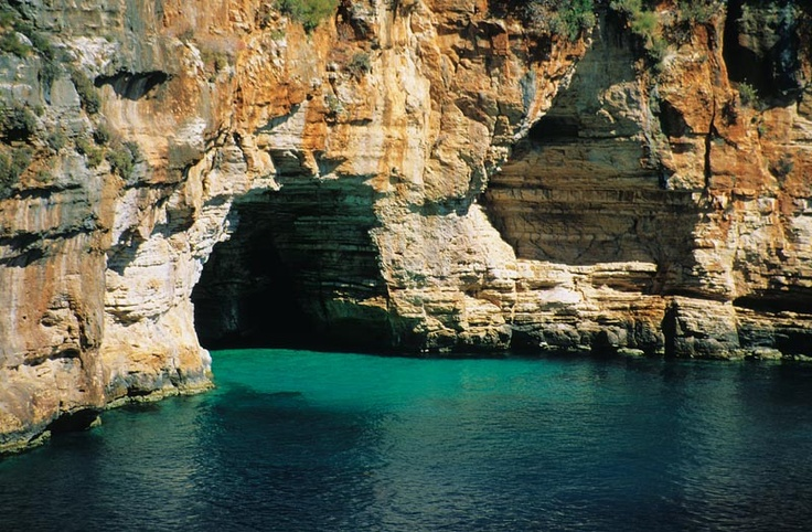 blue cave...